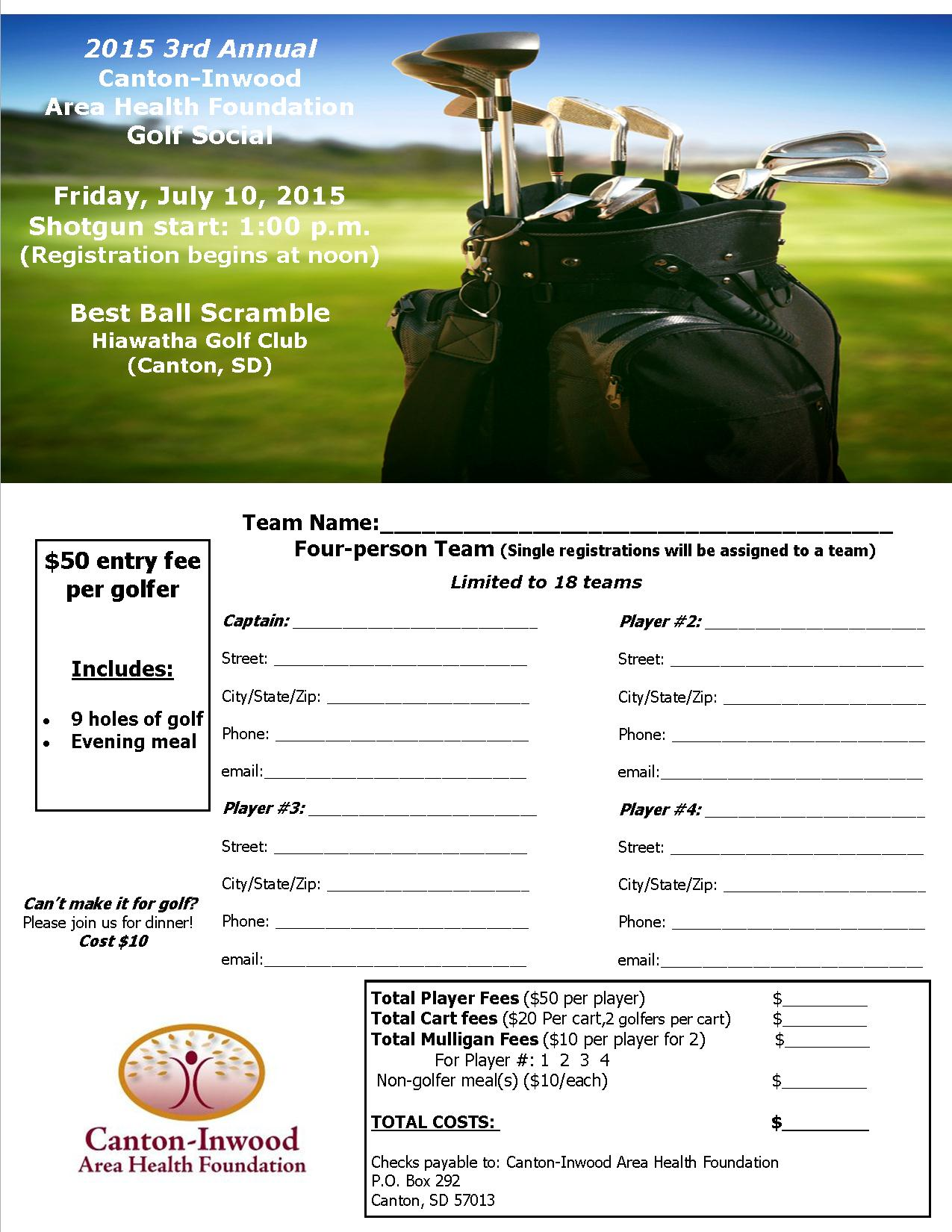 Register Now for Golf Tournament | Canton Inwood